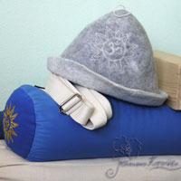 шапка для сауны, йога