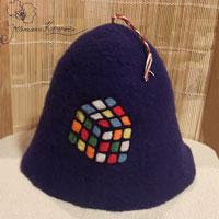 шапка для сауны, кубик рубика