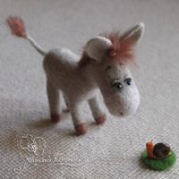 валяный ослик