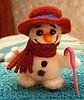 снеговичок сваляный из шерсти