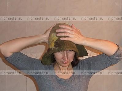 войлок, шапка для сауны, валяние, мастер-класс по валянию шапки