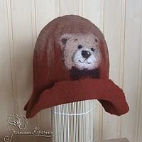 шапка для сауны, медвежонок